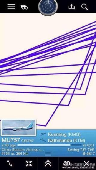 记者直击:尼泊尔机场爆棚 飞机盘旋难降落
