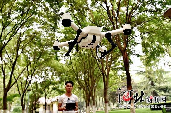 河北省首部救灾专用AEE无人机今起在石启用