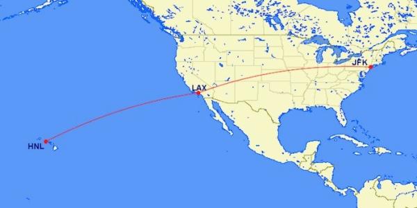 洛杉矶飞夏威夷航班 美国航空竟用错飞机